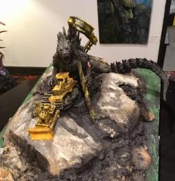 Massey as Godzilla